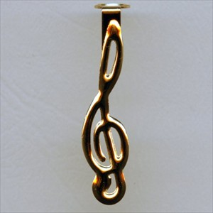Treble Clef Clip for Comfort and Slimline pen kits in 24K Gold