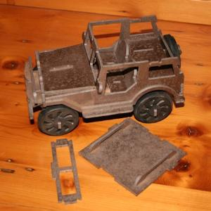 Jeep 3D puzzle in MDF
