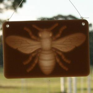 Window lithophane - bee