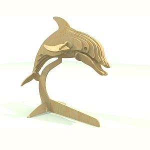Dolphin 3D puzzle in MDF