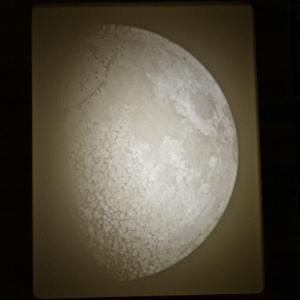 Moon lithophane