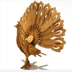 Indian Peacock 3D puzzle in MDF