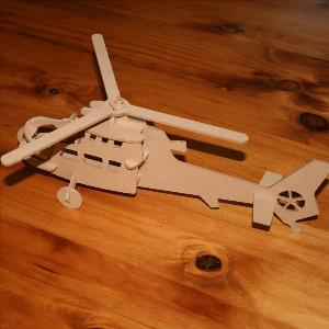 Chopper Helicopter 3D puzzle in MDF