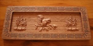 Squirrel Cribbage Board