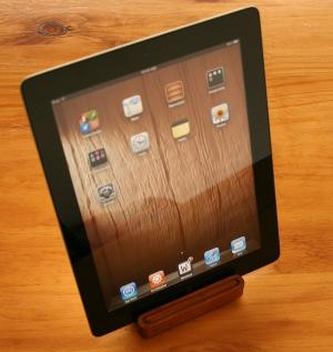 iPad 2/3 stand in Tasmanian Blackwood
