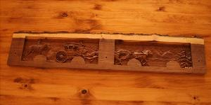 7 Hook Coat Hook Board - Stage Coach