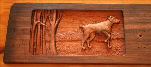 5 Hook Coat Hook Board - Bird Dog Scene