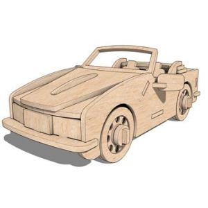 Sports Car 3D puzzle in MDF