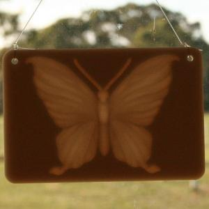 Window lithophane - butterfly
