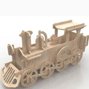 Powerful Train 3D puzzle in MDF