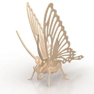 Butterfly 3D puzzle in MDF