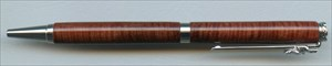 Dayacom Rose Engraving Slimline pen kit in Rhodium