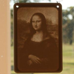 Window lithophane - the Mona Lisa