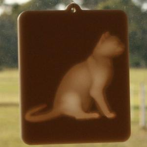Window lithophane - cat