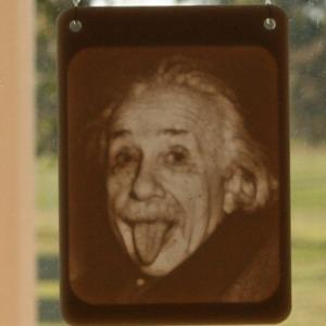 Window Lithophane - Einstein