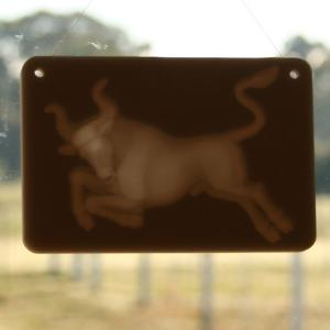 Window lithophane - zodiac - Taurus